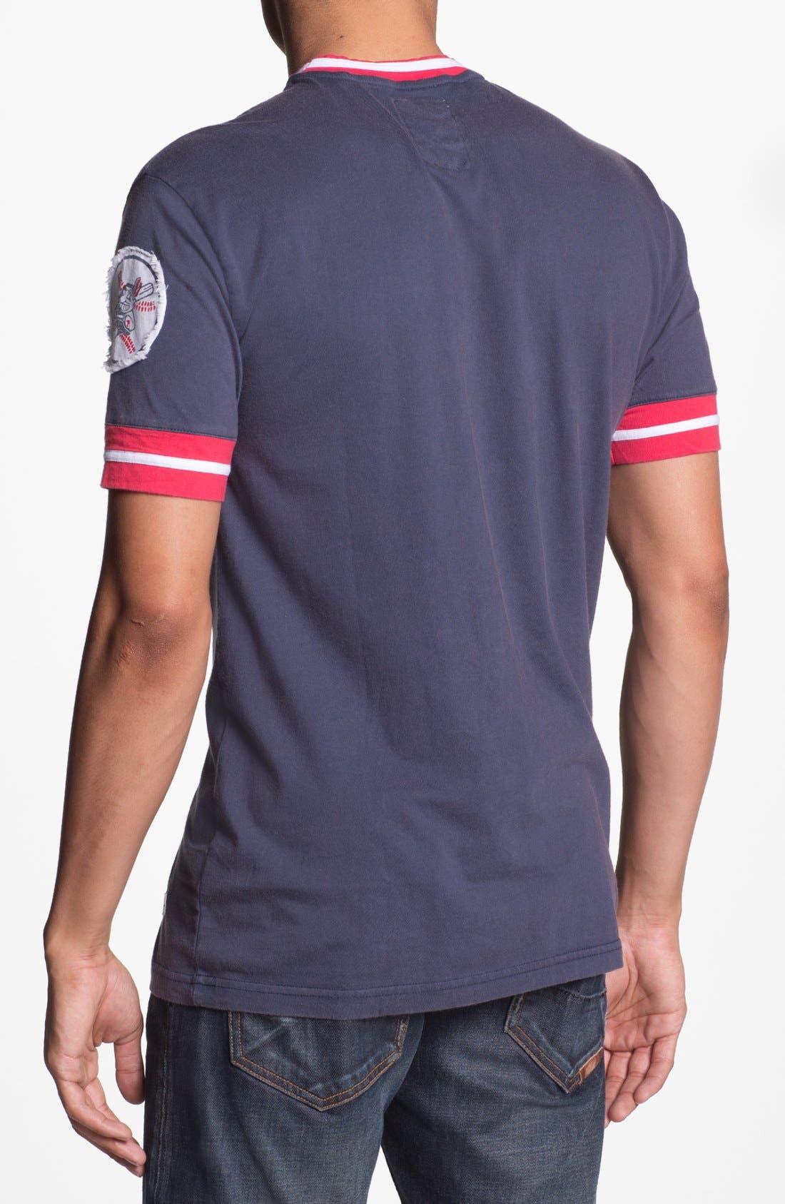 Alternate Image 2  - Red Jacket 'Cleveland Indians' Trim Fit Crewneck Ringer T-Shirt