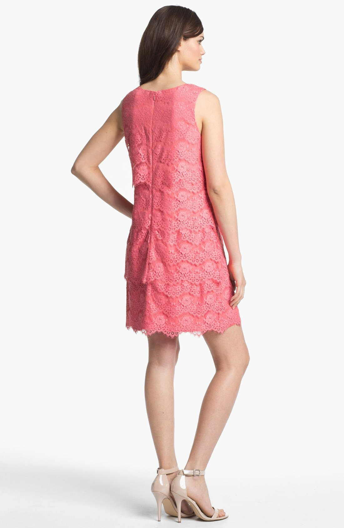 Alternate Image 2  - Jessica Simpson Tiered Lace Shift Dress