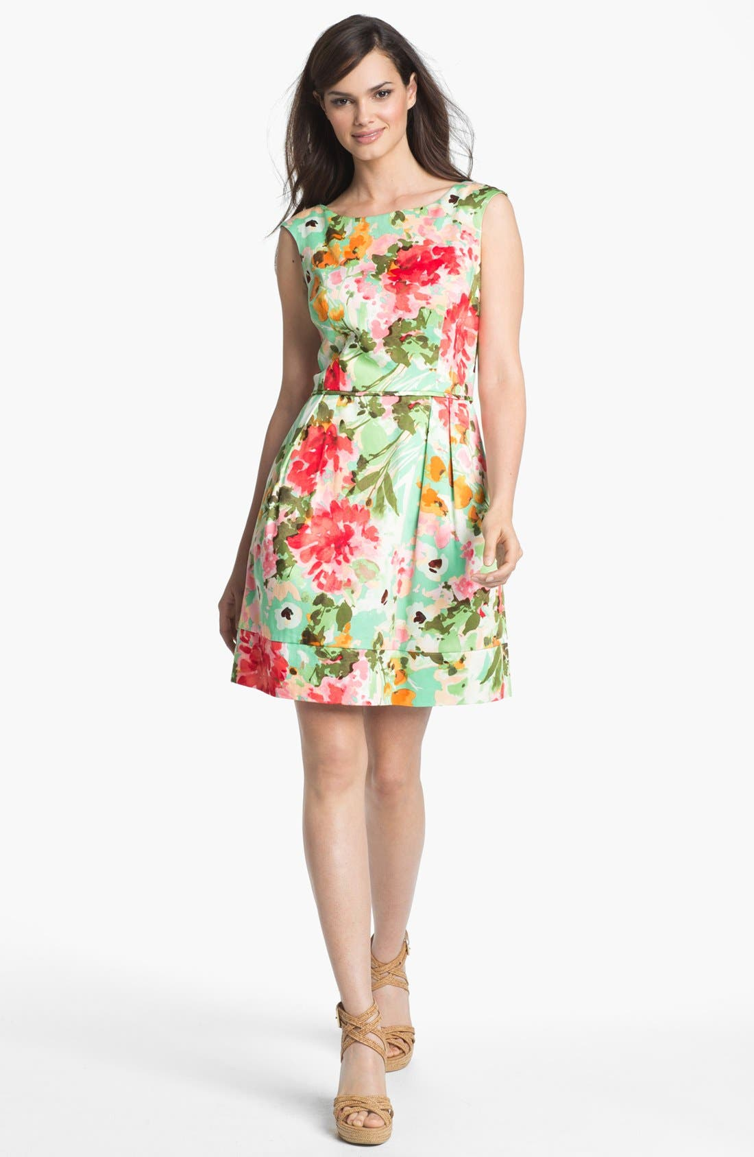 Main Image - Donna Ricco Floral Print Fit & Flare Dress