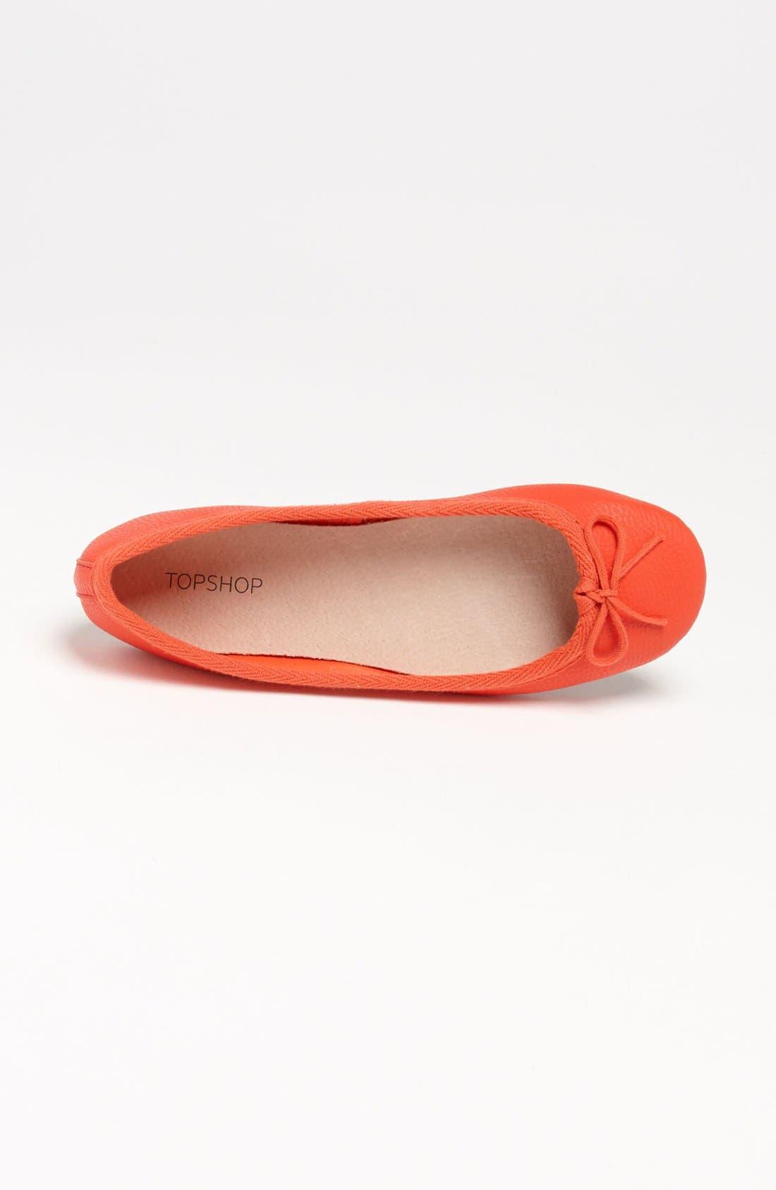 Alternate Image 4  - Topshop 'Vibrant Tumbled' Ballerina Flat