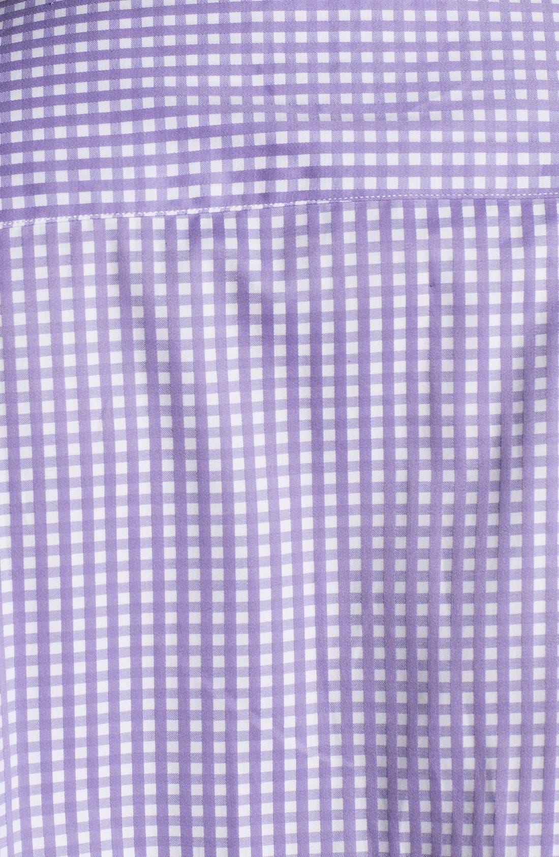 Alternate Image 4  - Bugatchi Gingham Classic Fit Cotton Sport Shirt