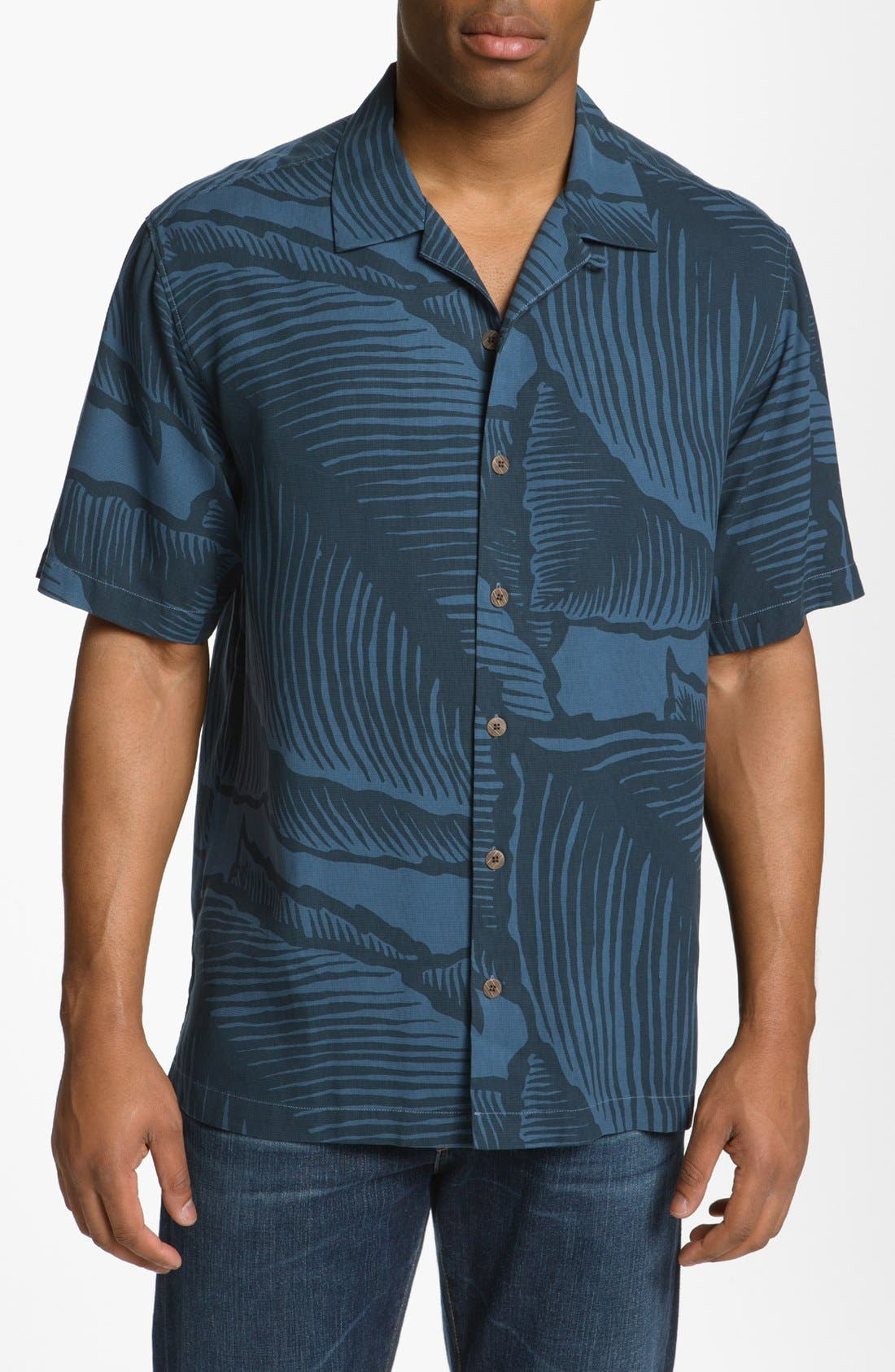Main Image - Tommy Bahama 'Grand Frond' Campshirt (Big & Tall)