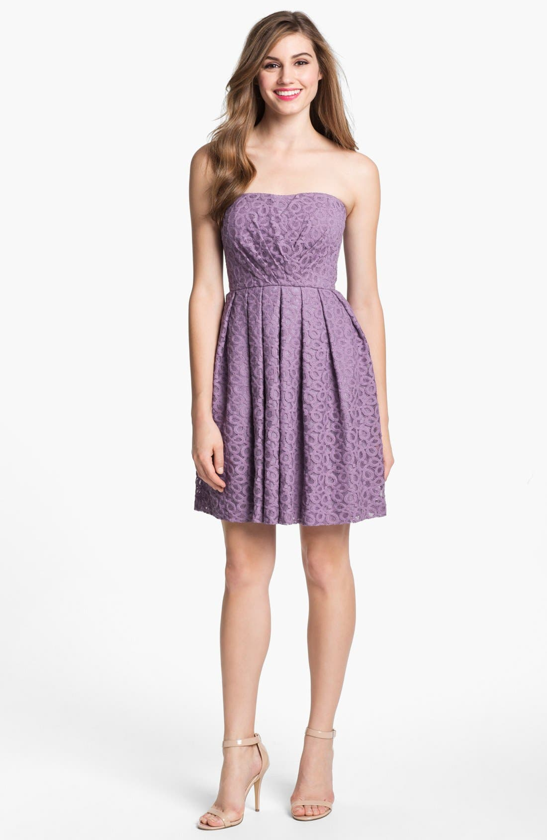 Alternate Image 1 Selected - Donna Morgan 'Nicole' Strapless Lace Dress