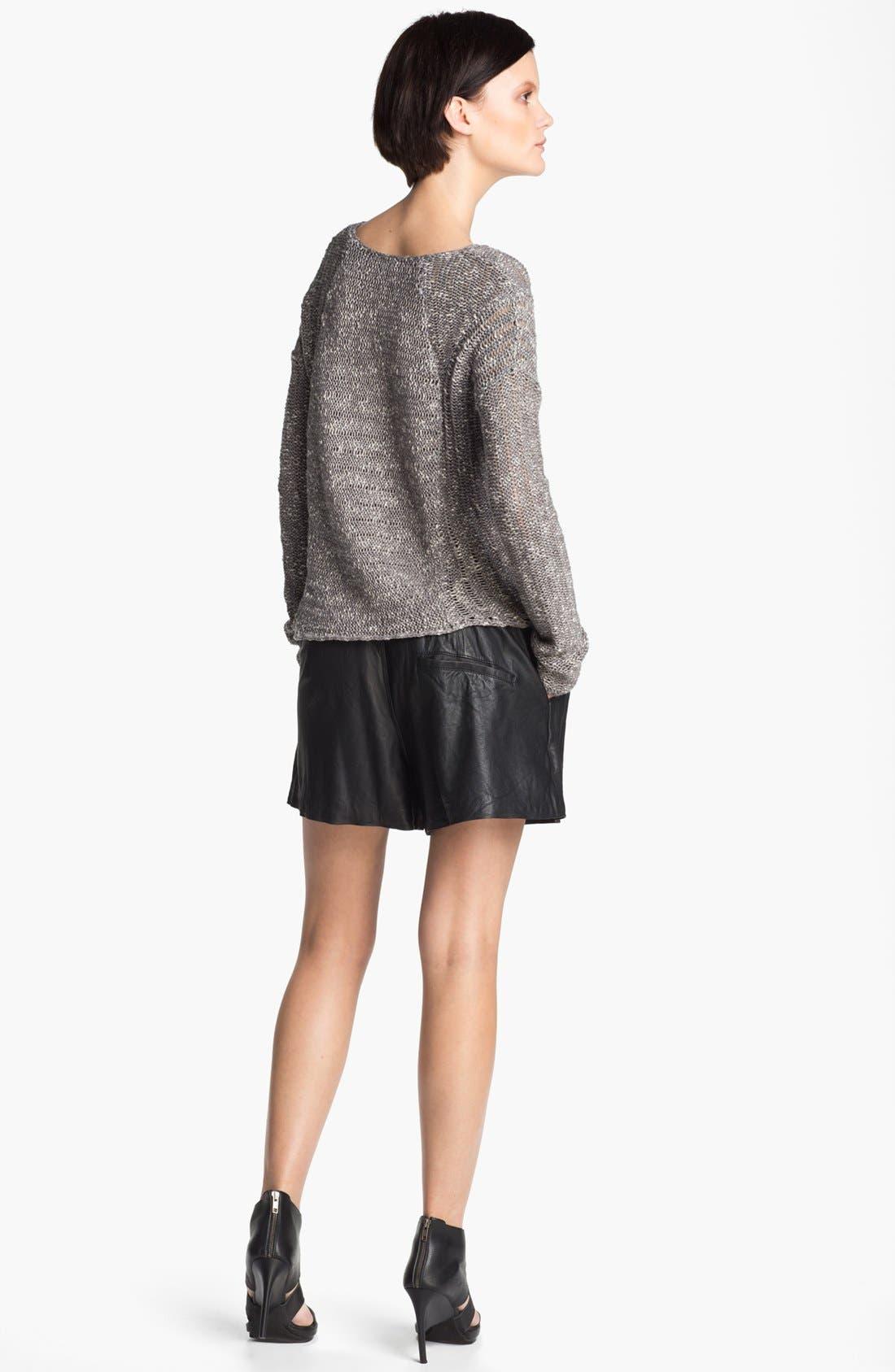 Alternate Image 4  - HELMUT Helmut Lang 'Caged' Asymmetrical Hem Bouclé Sweater