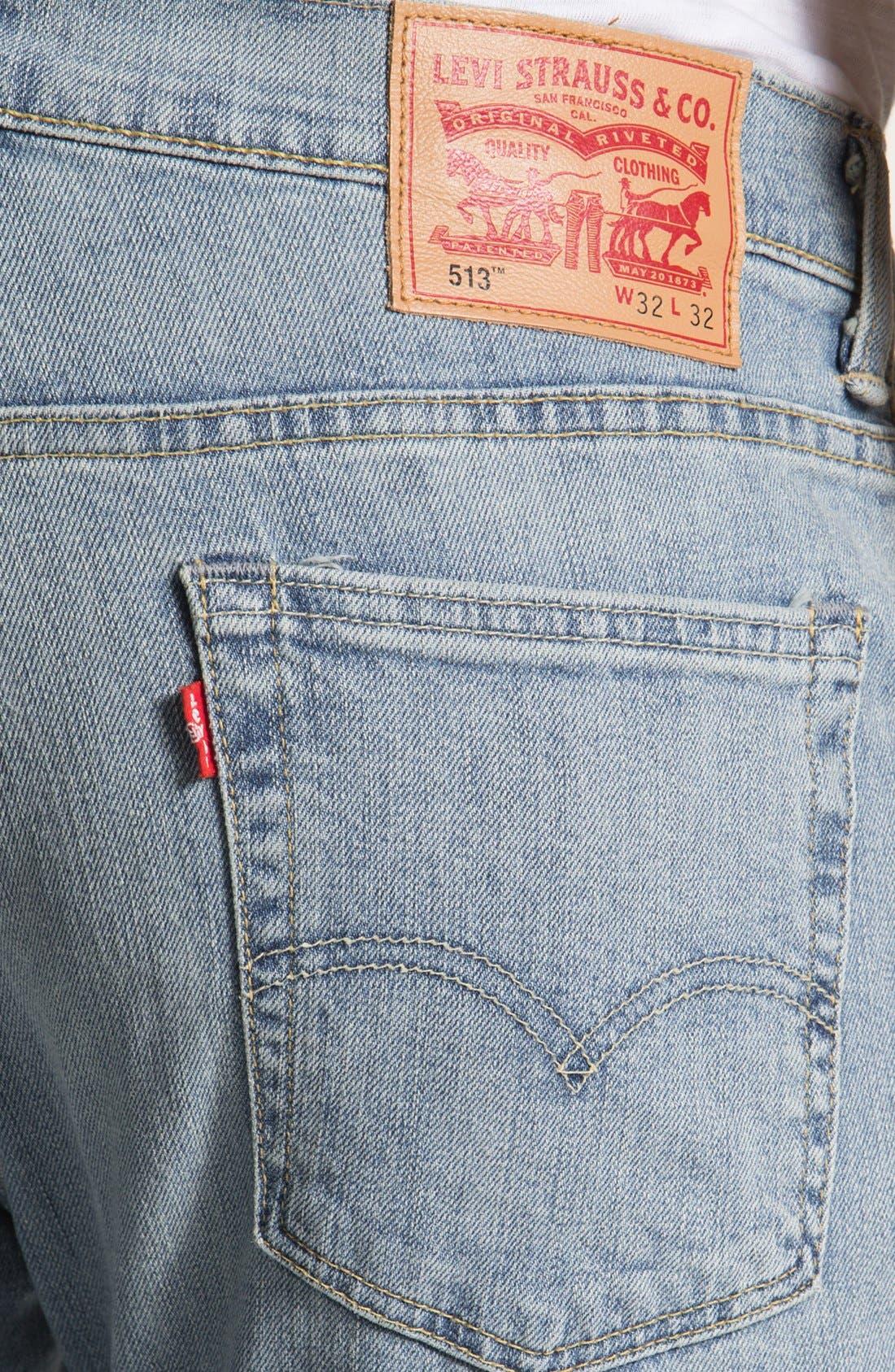 Alternate Image 4  - Levi's® '513™' Slim Fit Jeans (Light Breeze)
