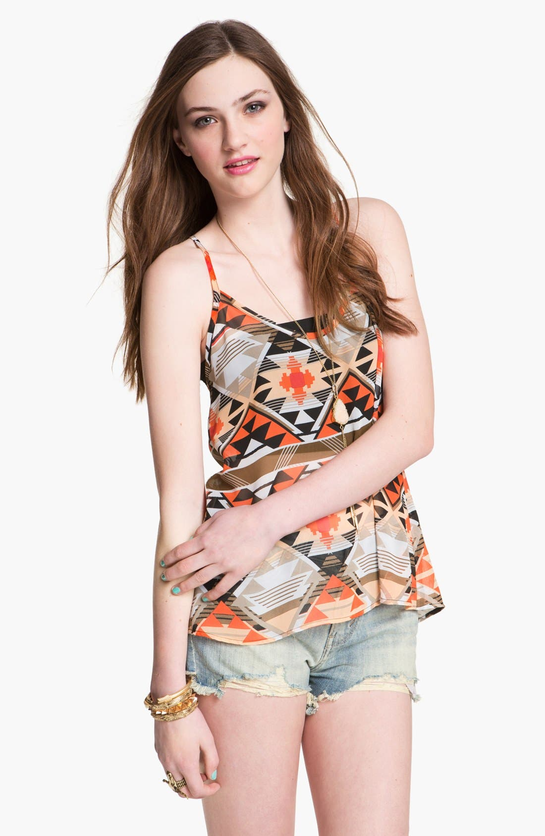 Alternate Image 1 Selected - Liberty Love Racerback Camisole (Juniors) (Online Only)
