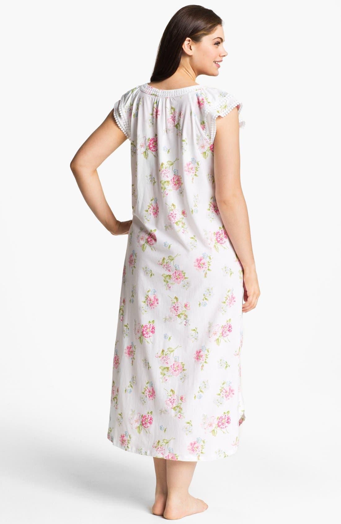 Alternate Image 2  - Carole Hochman Designs Cap Sleeve Nightgown (Plus Size)