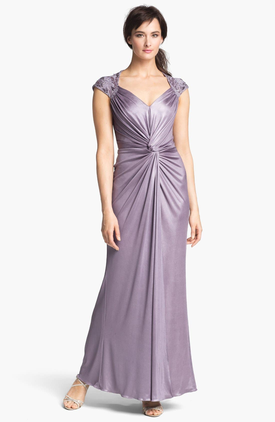 Alternate Image 1 Selected - Patra Front Twist Jersey Gown