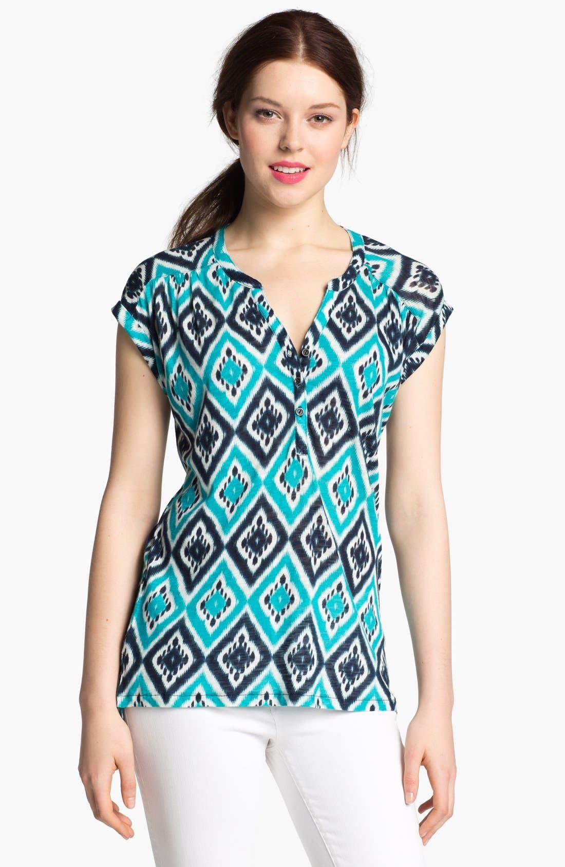 Alternate Image 1 Selected - Lucky Brand 'Ikat Diamond' Cotton Top