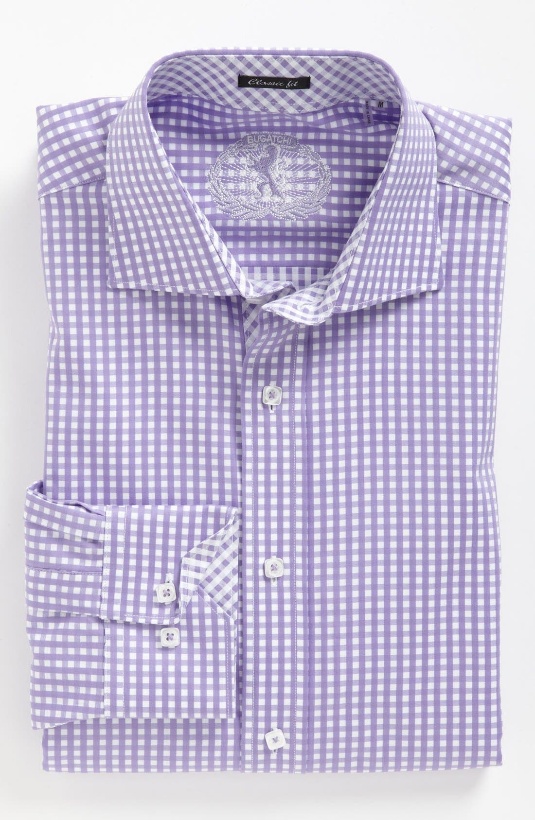 Alternate Image 2  - Bugatchi Gingham Classic Fit Cotton Sport Shirt