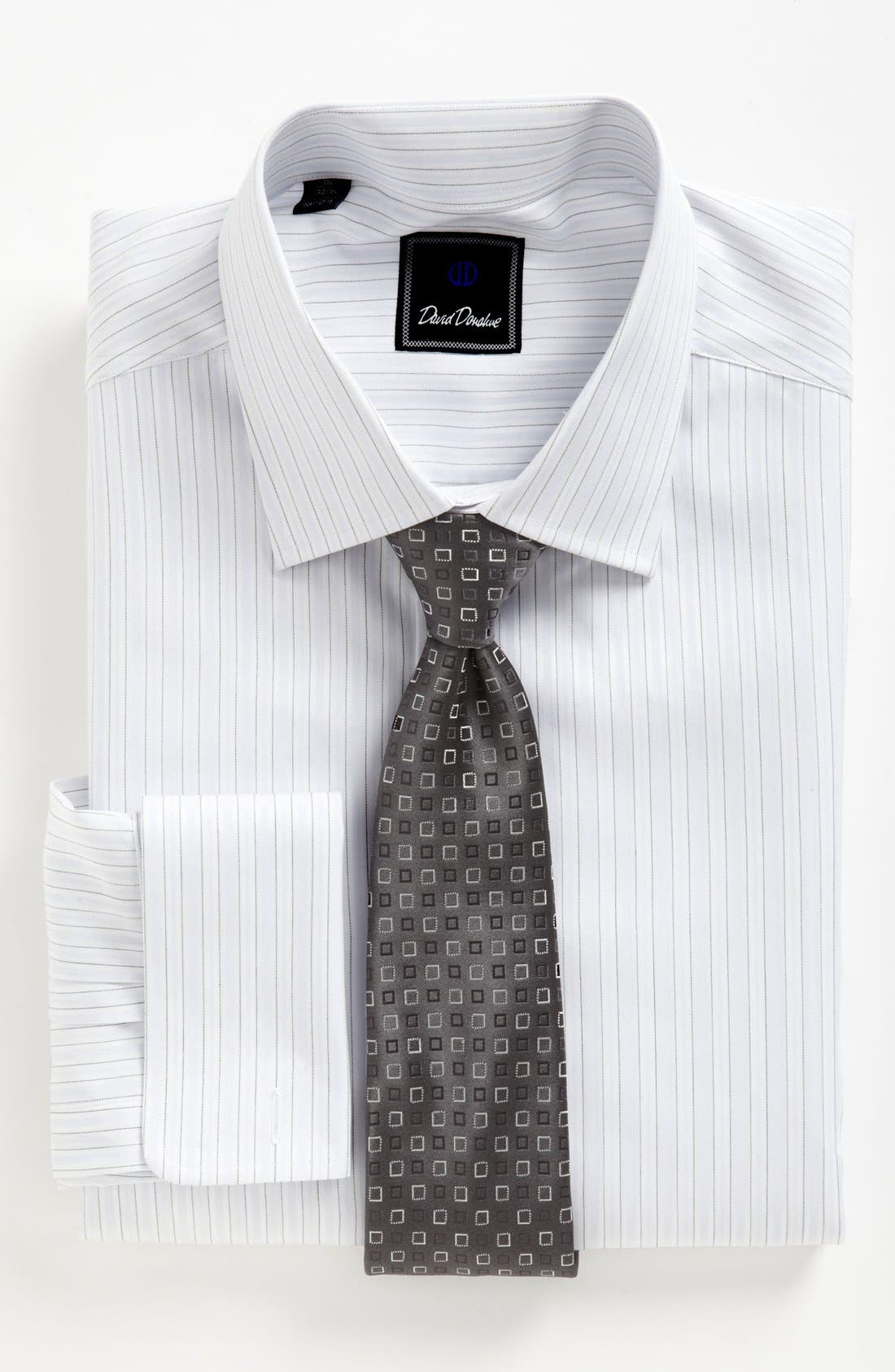 Alternate Image 2  - David Donahue Dress Shirt & Tie