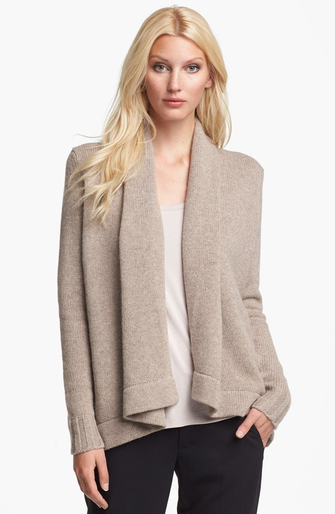 Alternate Image 1 Selected - Vince Open Wool Blend Cardigan