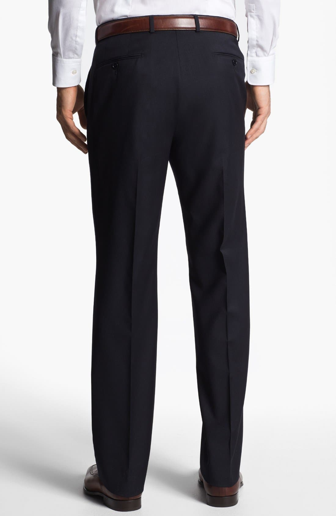 Alternate Image 2  - John Varvatos Star USA 'Thompson' Flat Front Wool Trousers