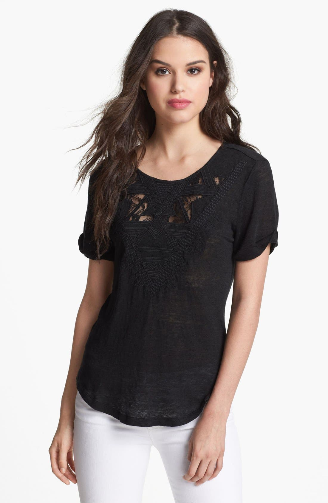 Main Image - Willow & Clay Aztec Lace Tee