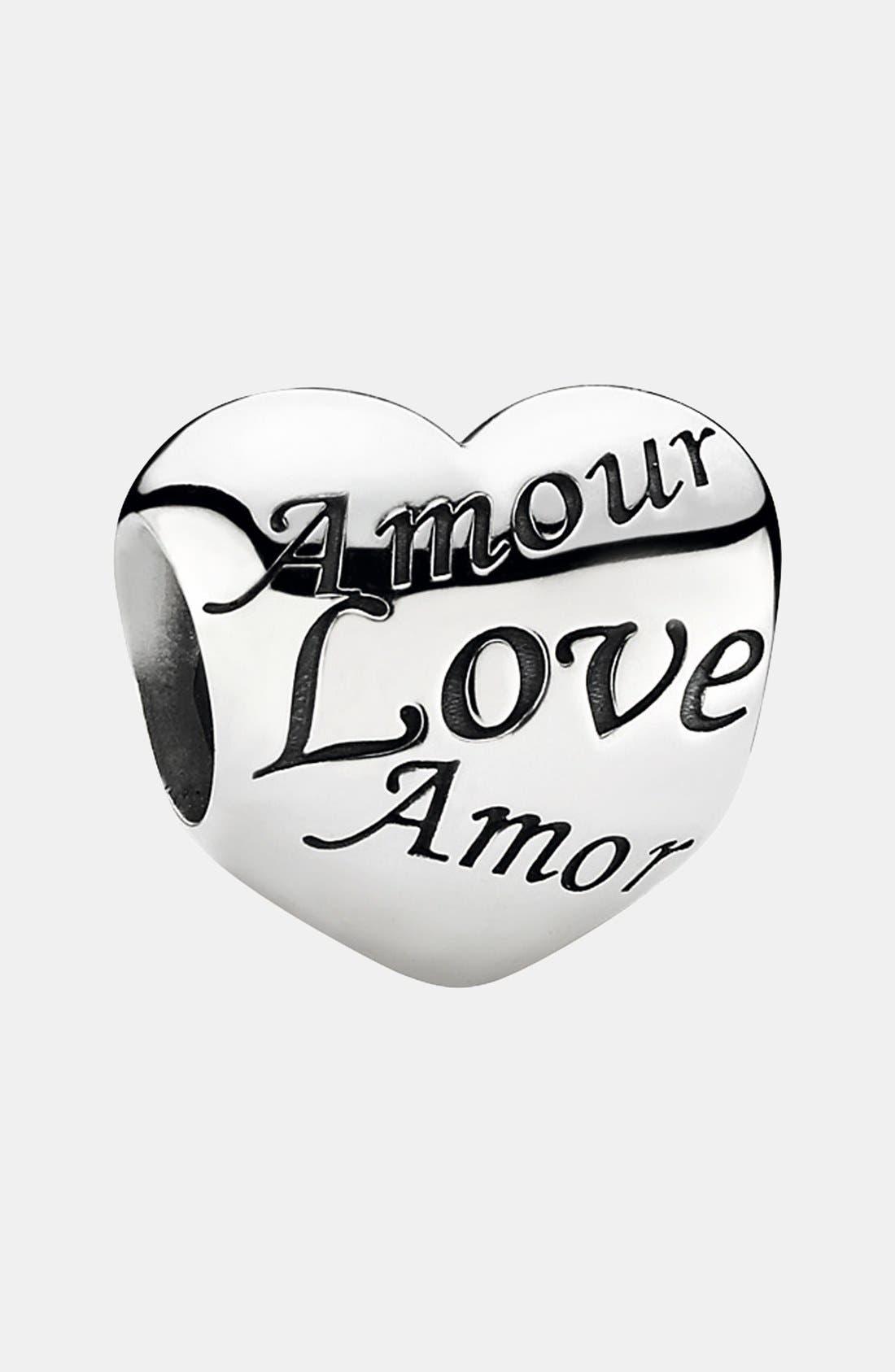 Alternate Image 1 Selected - PANDORA 'Language of Love' Charm