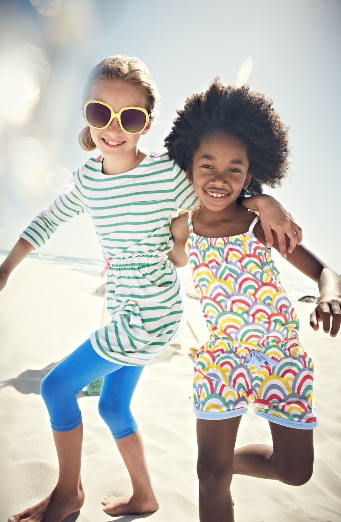 Alternate Image 2  - Mini Boden Jersey Playsuit (Toddler Girls)