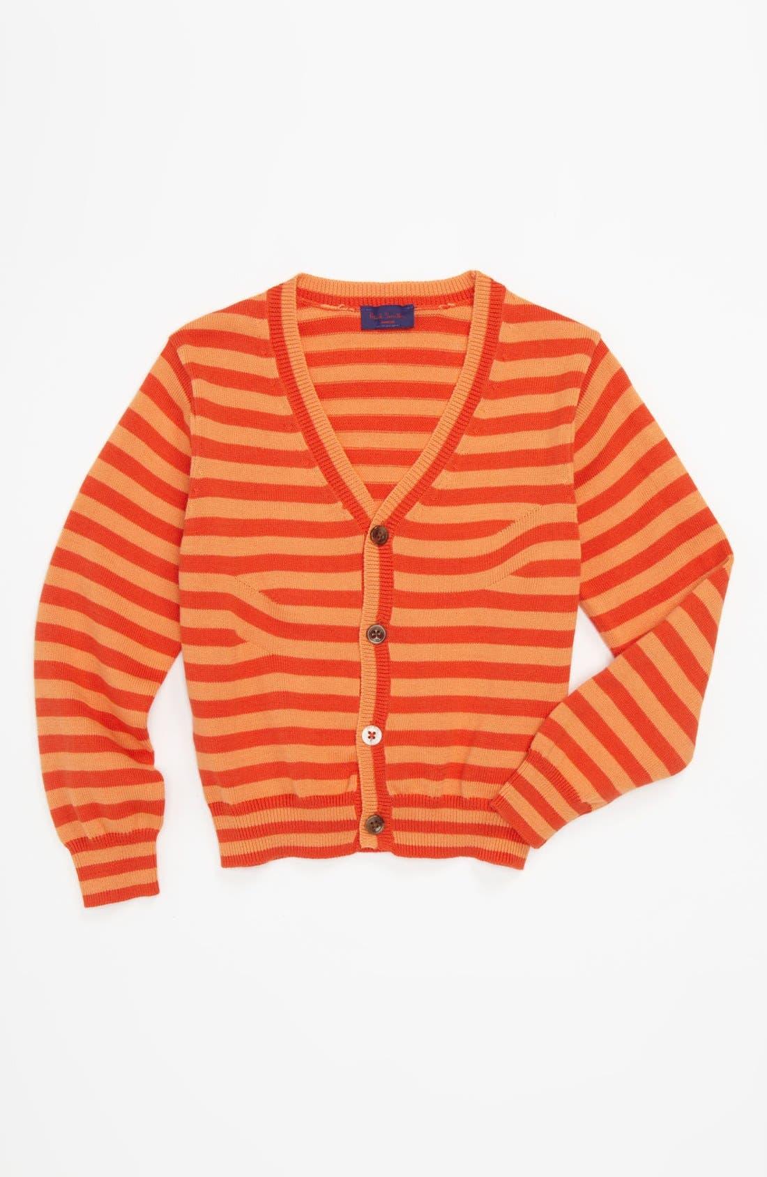 Main Image - Paul Smith Junior Stripe Cardigan (Toddler)