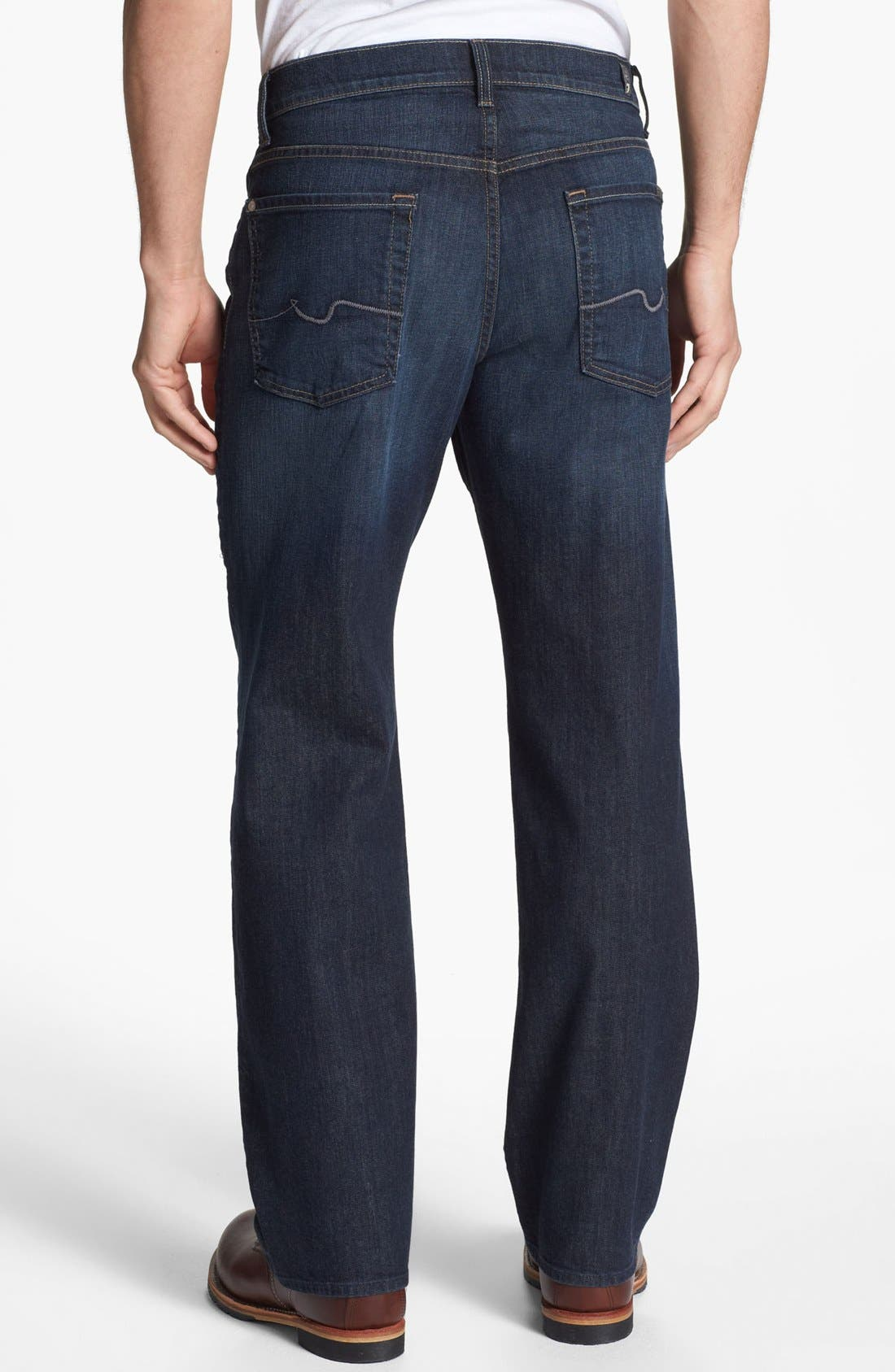 Main Image - 7 For All Mankind® Relaxed Leg Jeans (Worn Hawthorne) (Online Only)