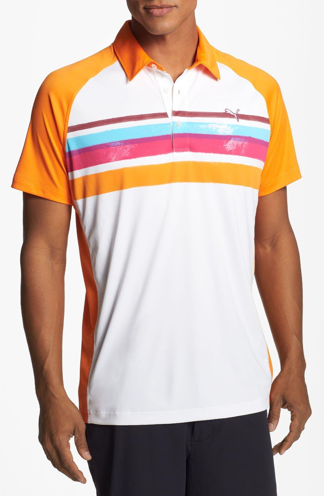 Main Image - PUMA GOLF 'Watercolor Stripe' dryCELL™ Polo