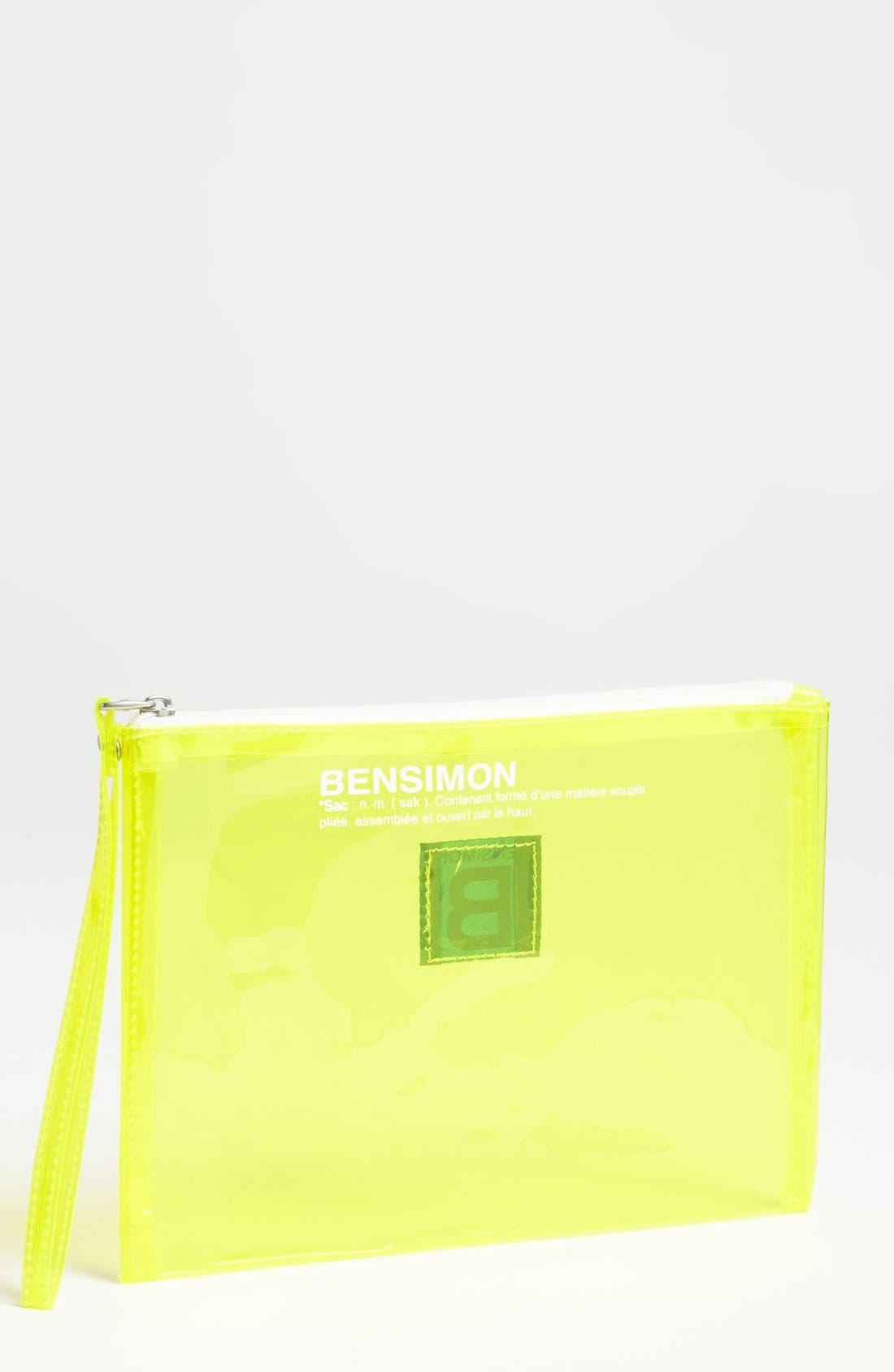 Alternate Image 1 Selected - BENSIMON Transparent Wristlet