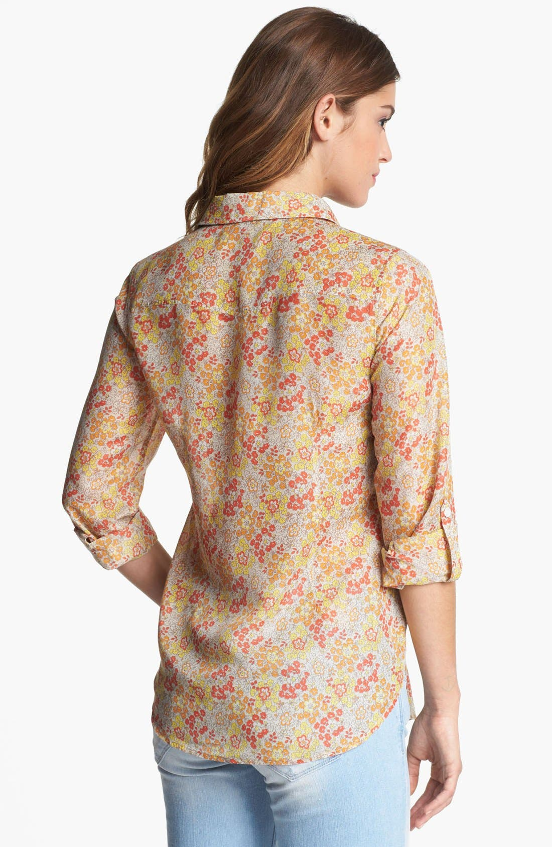Alternate Image 2  - Two by Vince Camuto Print Utility Shirt (Petite)