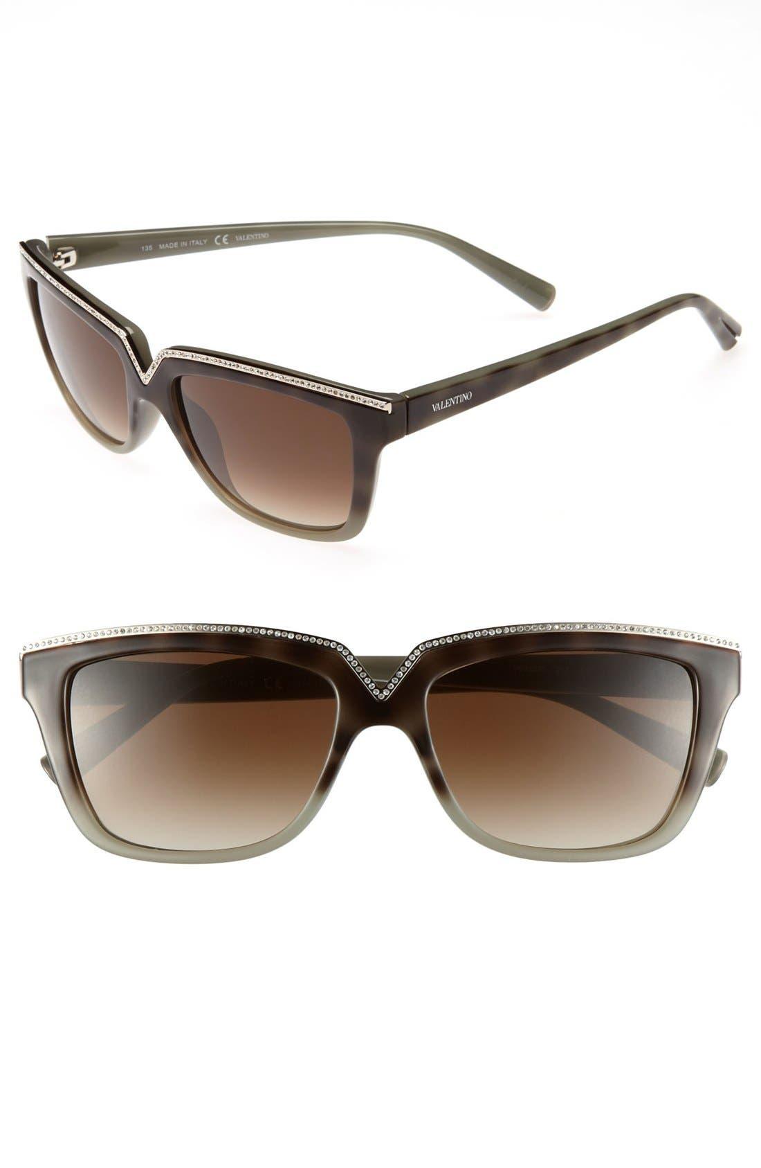 Alternate Image 1 Selected - Valentino 53mm Retro Sunglasses