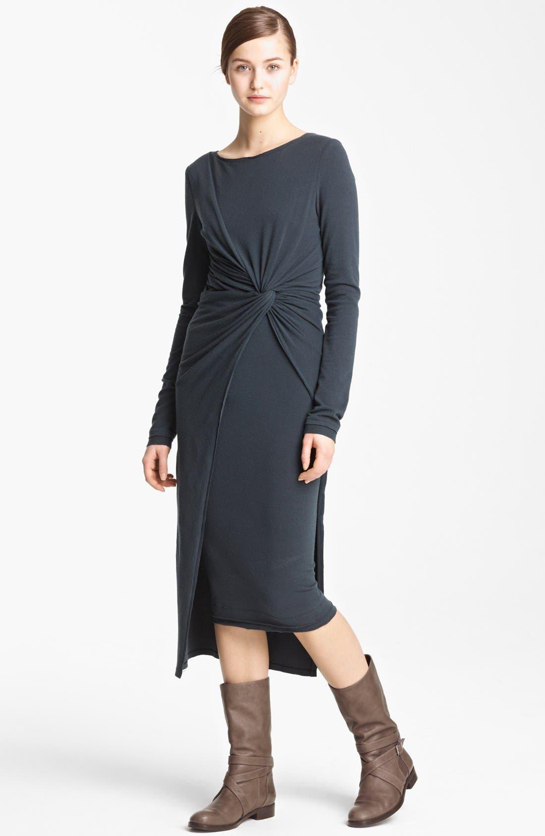 Main Image - Donna Karan Collection Cross Draped Knot Dress
