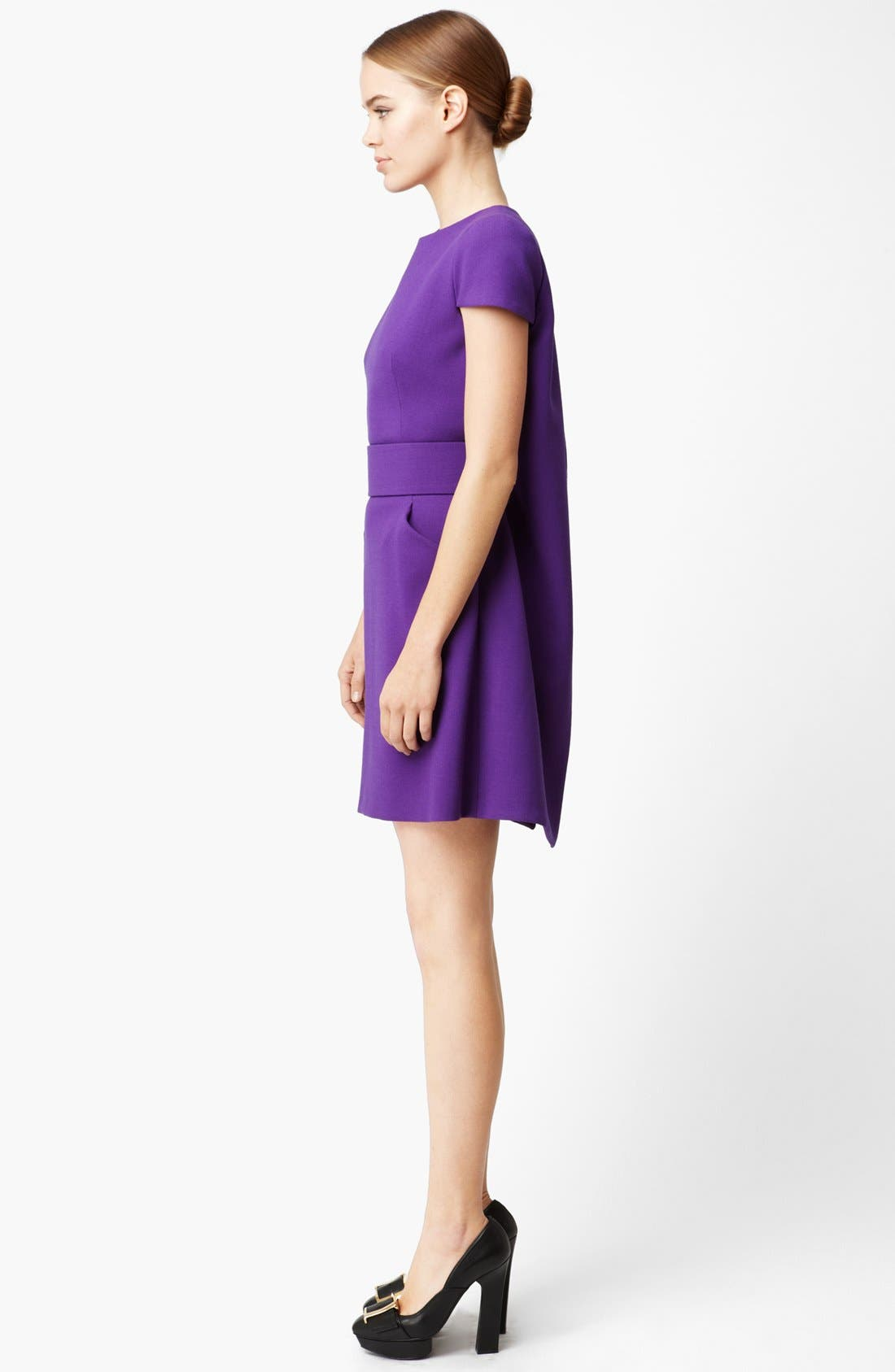 Alternate Image 2  - Alexander McQueen Cape Back Wool Crepe Dress