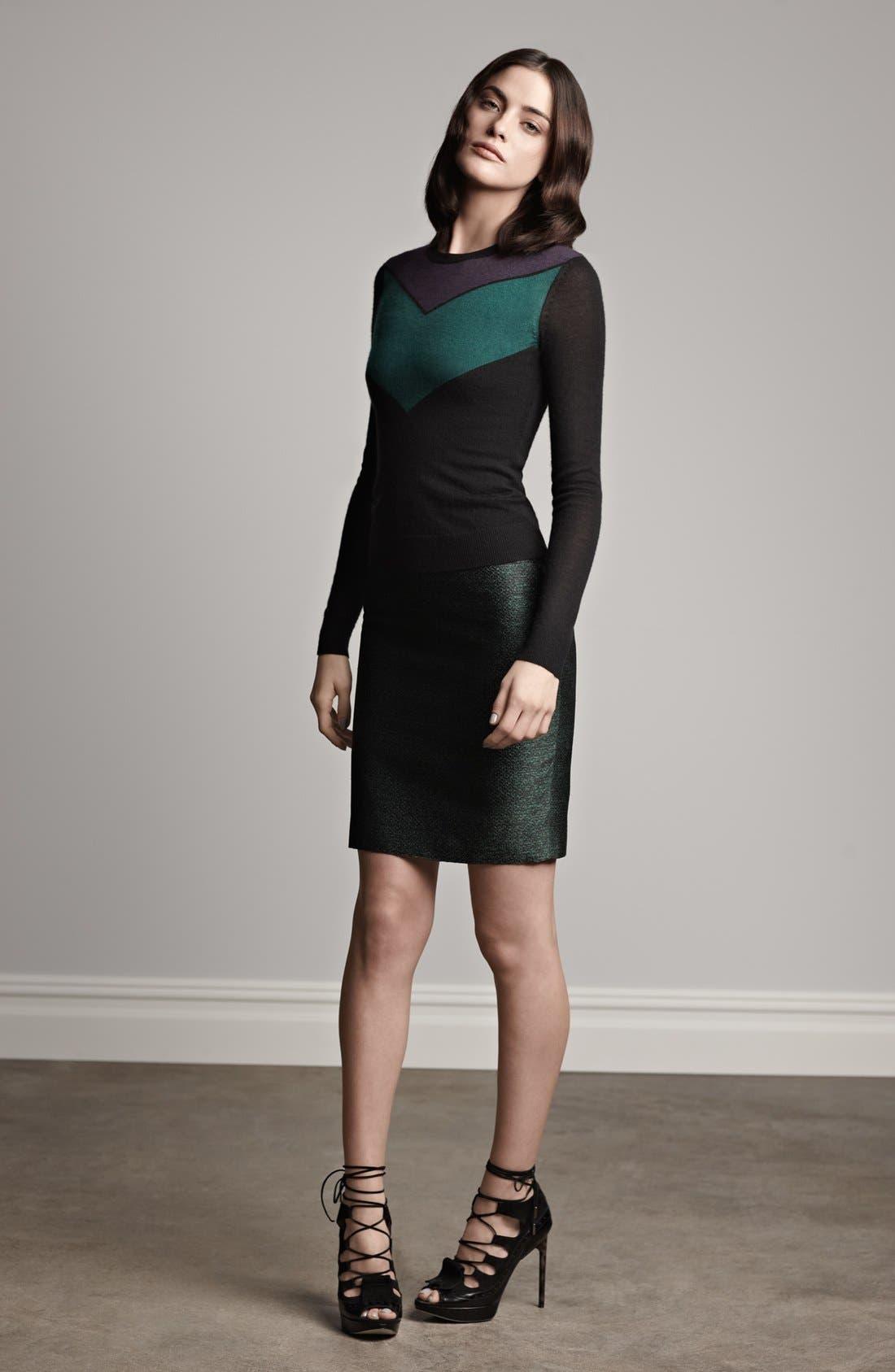 Alternate Image 4  - Jason Wu Chevron Cashmere & Silk Sweater