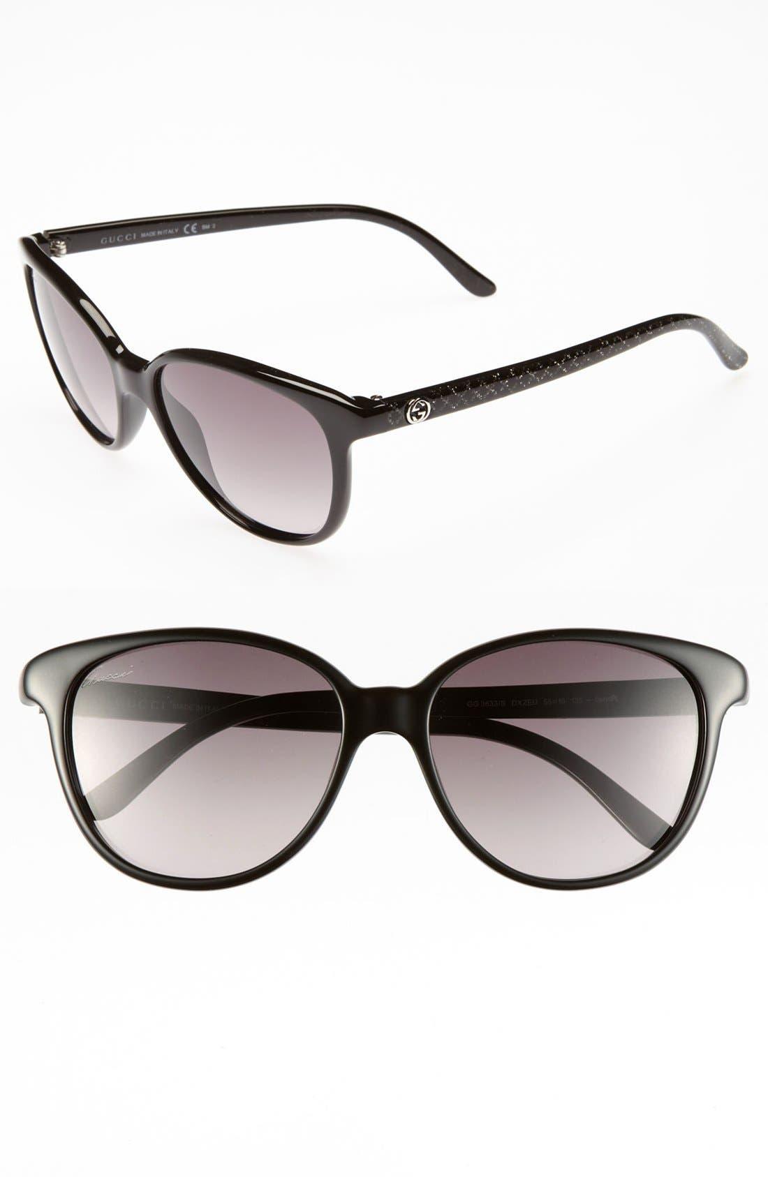 Alternate Image 1 Selected - Gucci 55mm Retro Sunglasses