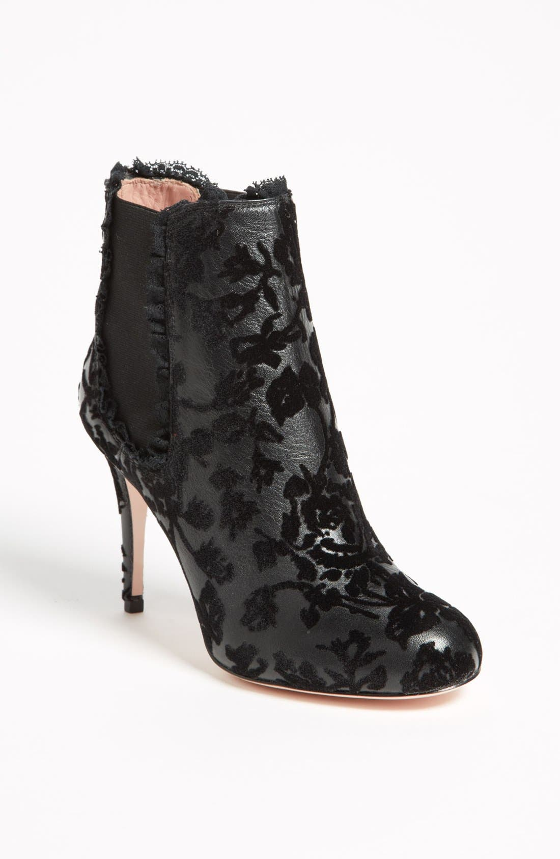 Alternate Image 1 Selected - RED Valentino Flocked Bootie