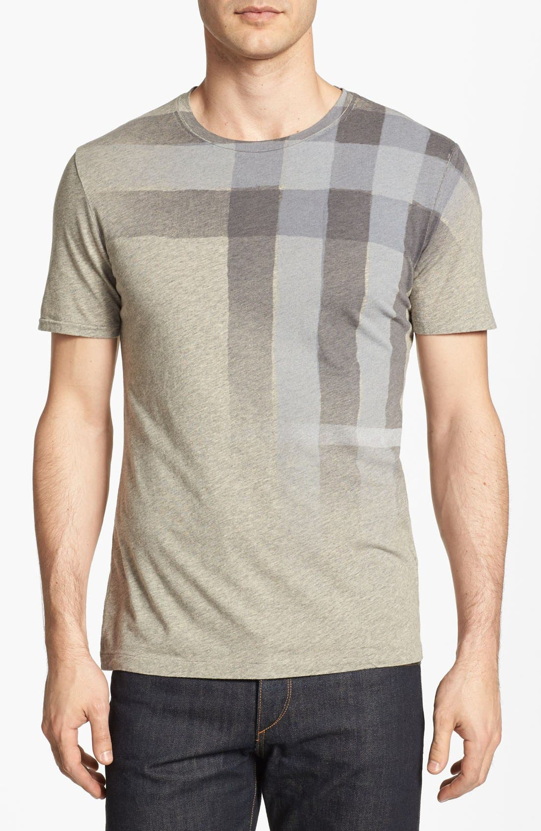 Main Image - Burberry Brit 'Eburne' Waterprint Check T-Shirt