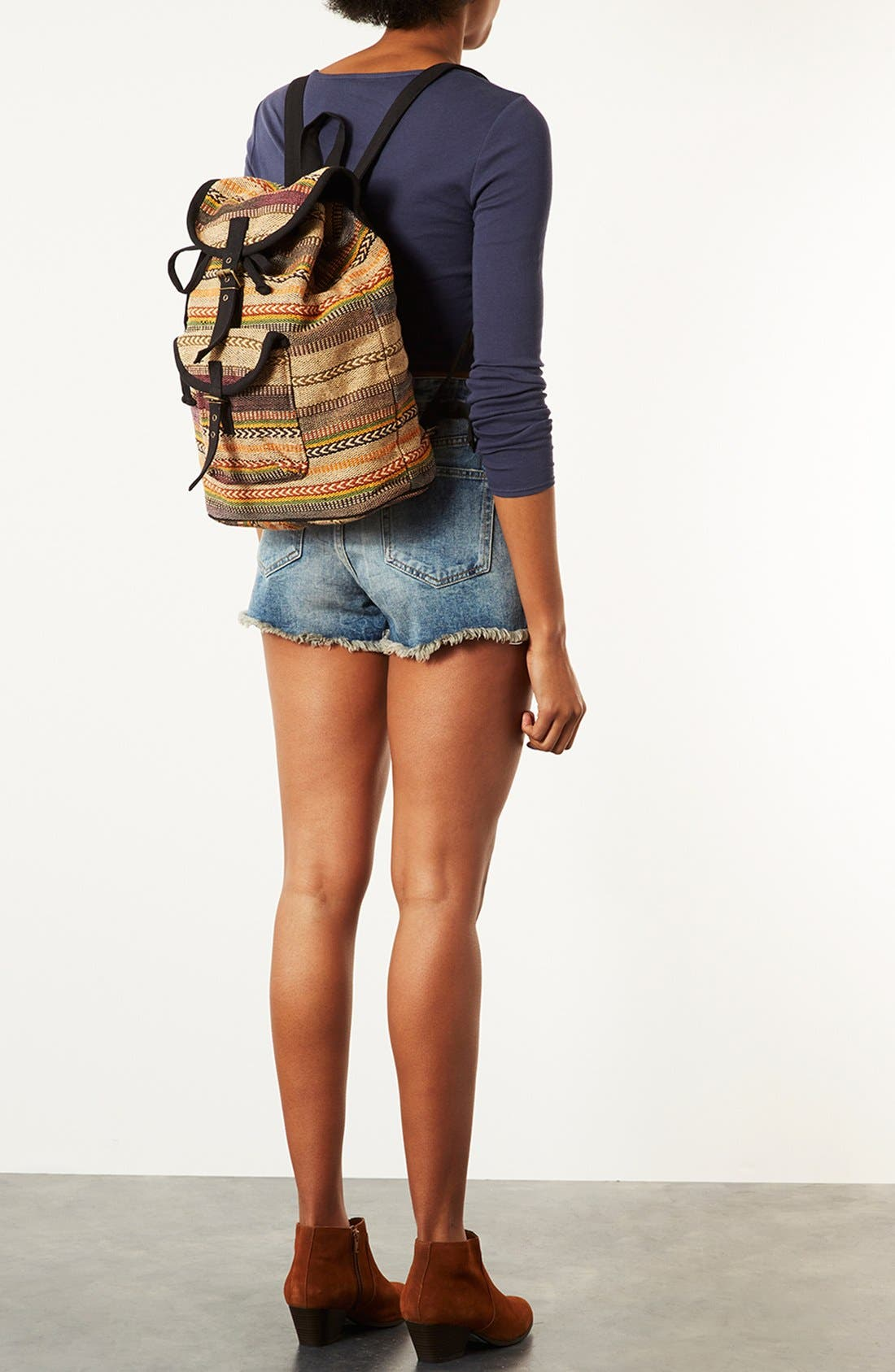 Alternate Image 4  - Topshop 'Aztec Stripe' Backpack