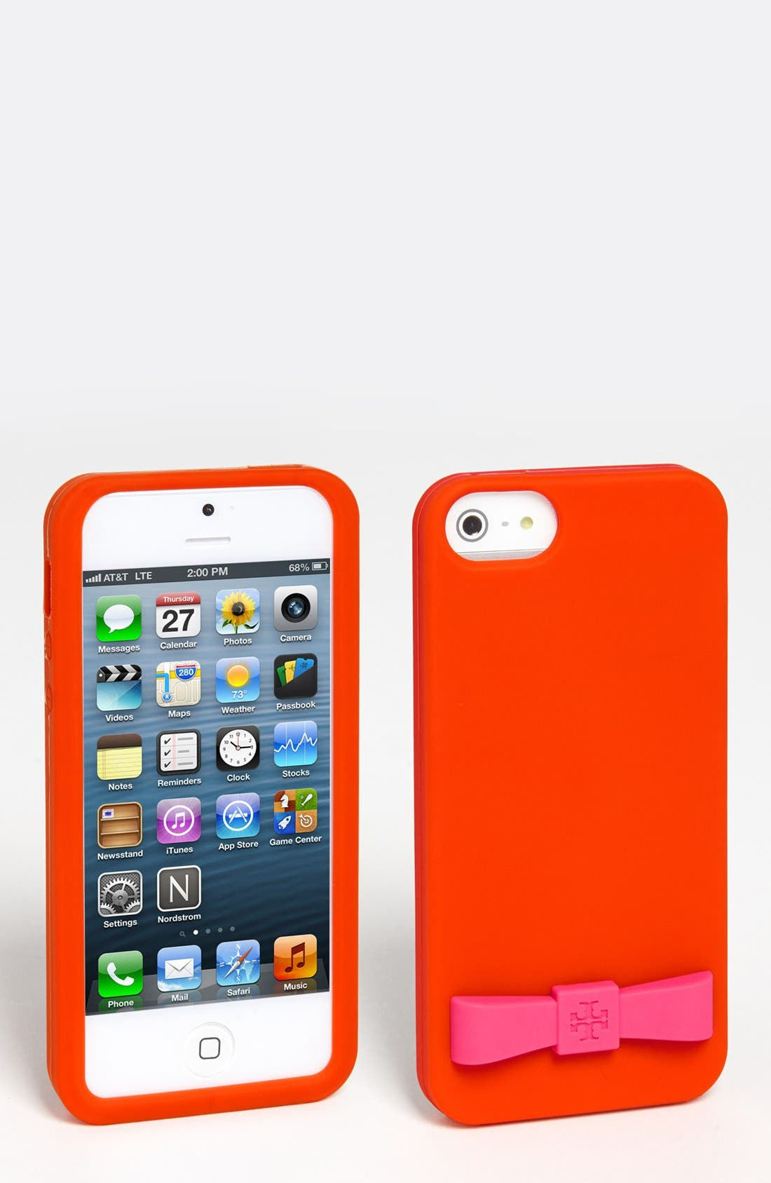 Main Image - Tory Burch Logo Bow iPhone 5 Case