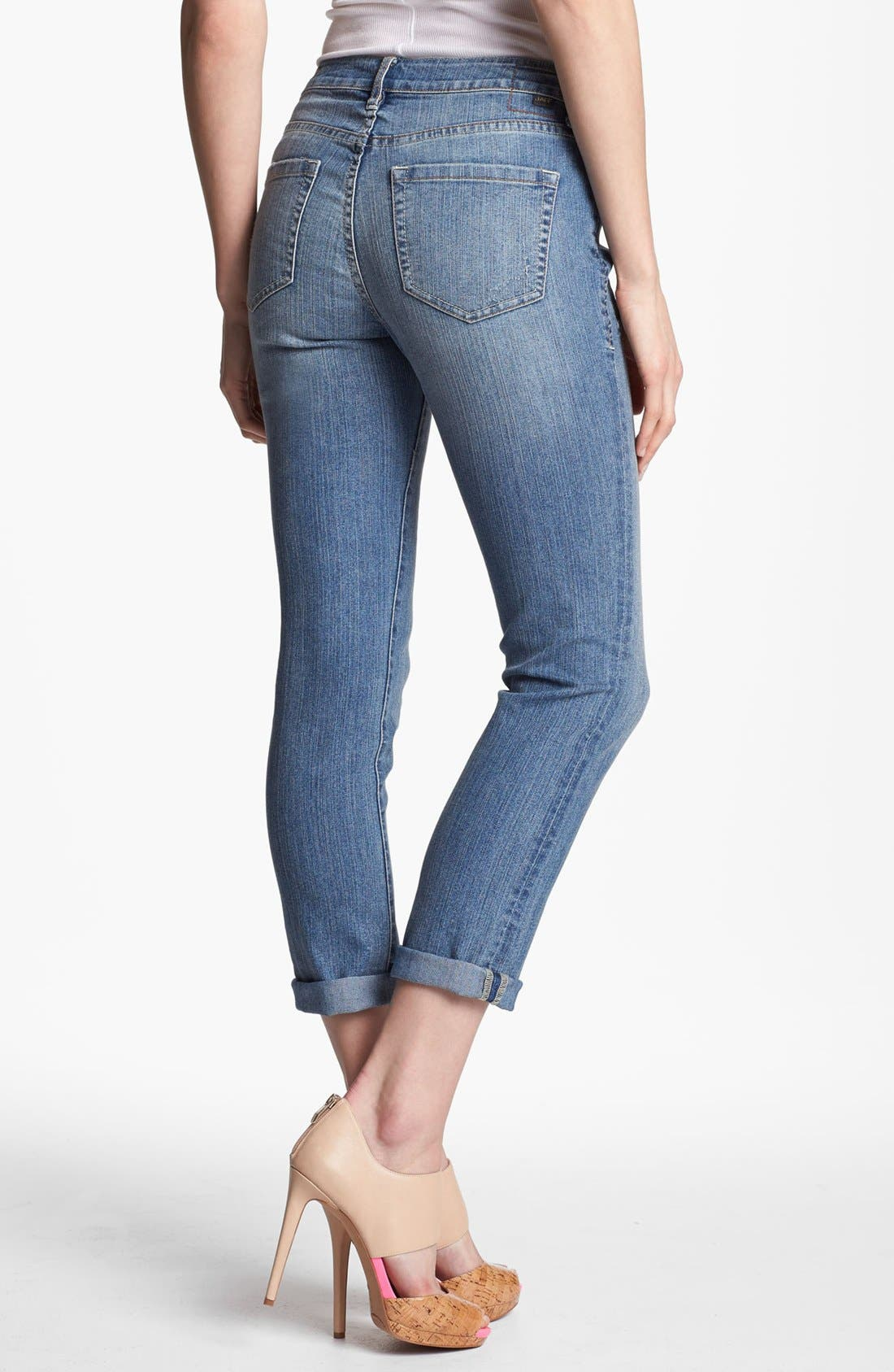 Alternate Image 2  - Jag Jeans 'Tommy' Skinny Crop Boyfriend Jeans (Classic Vintage) (Petite)