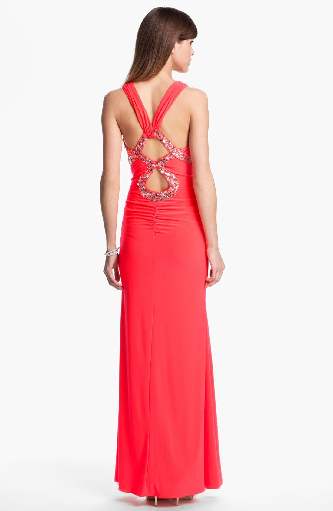 Alternate Image 2  - Test 1.26.16 - Hailey Logan Embellished Cutout Gown (Juniors) (Online Only)test. Test PICS2.0