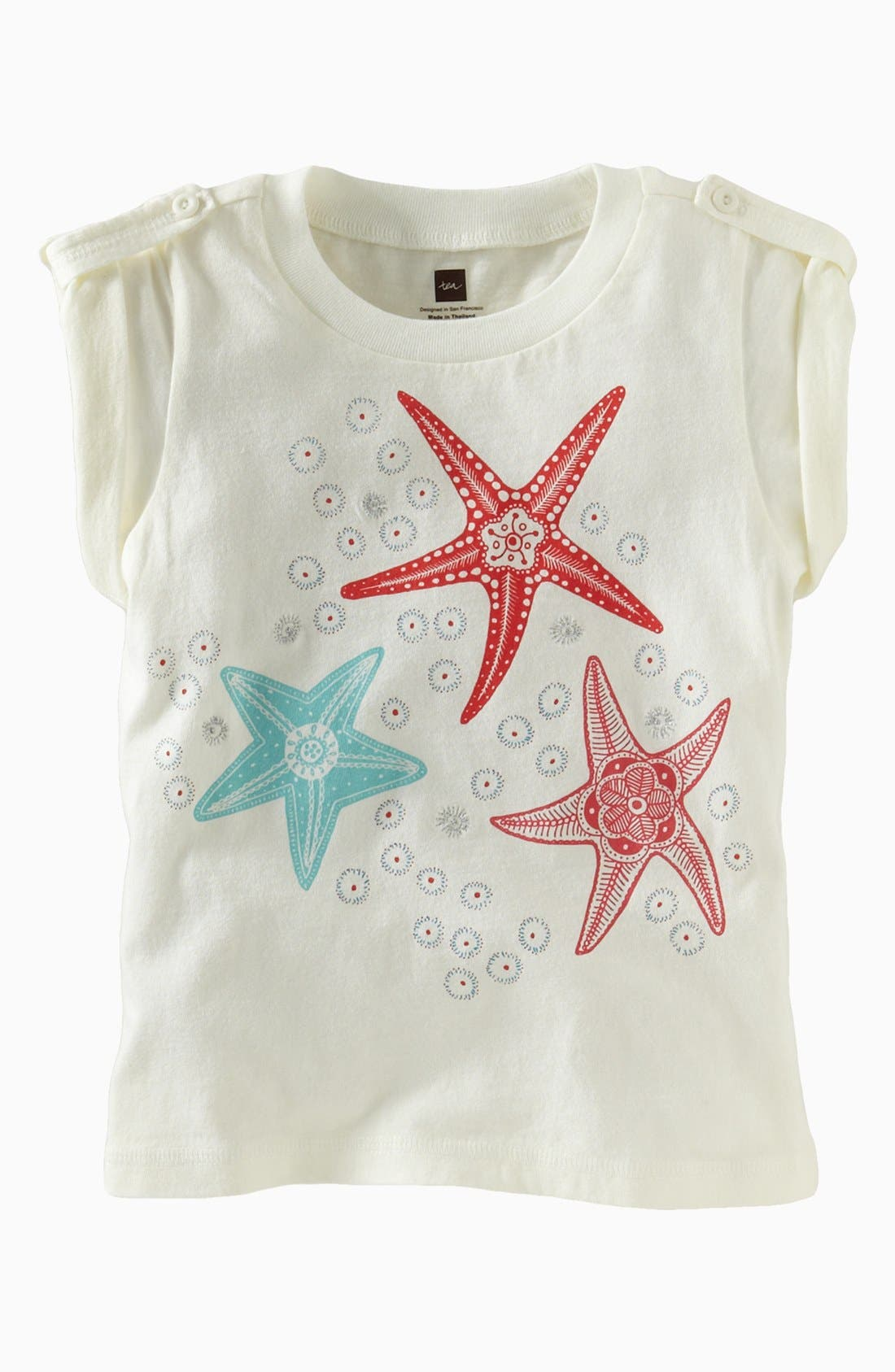 Alternate Image 1 Selected - Tea Collection 'Sea Star' Tee (Little Girls & Big Girls)