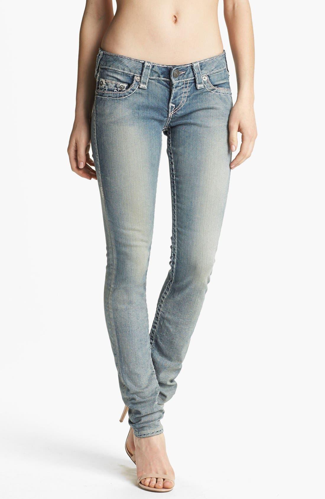 Main Image - True Religion Brand Jeans 'Stella Super T' Skinny Jeans (Tail Driver)