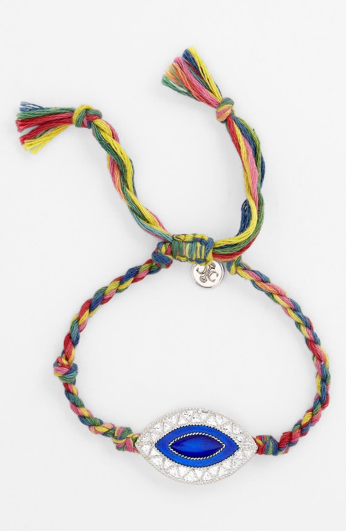 Main Image - Carbon Copy Jewelry 'Evil Eye' Braided Bracelet