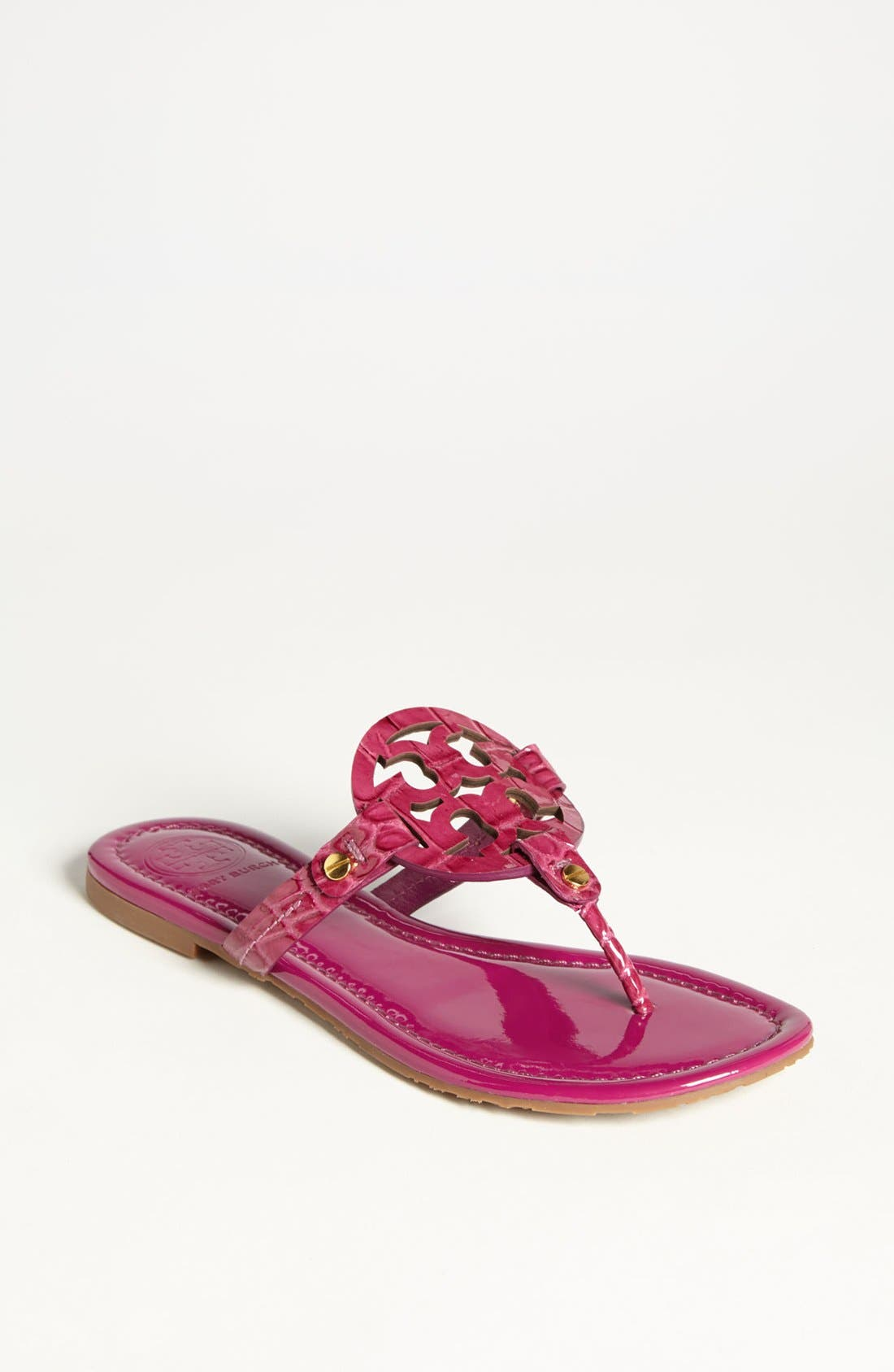 Alternate Image 1 Selected - Tory Burch 'Miller' Croc Embossed Sandal (Online Only)