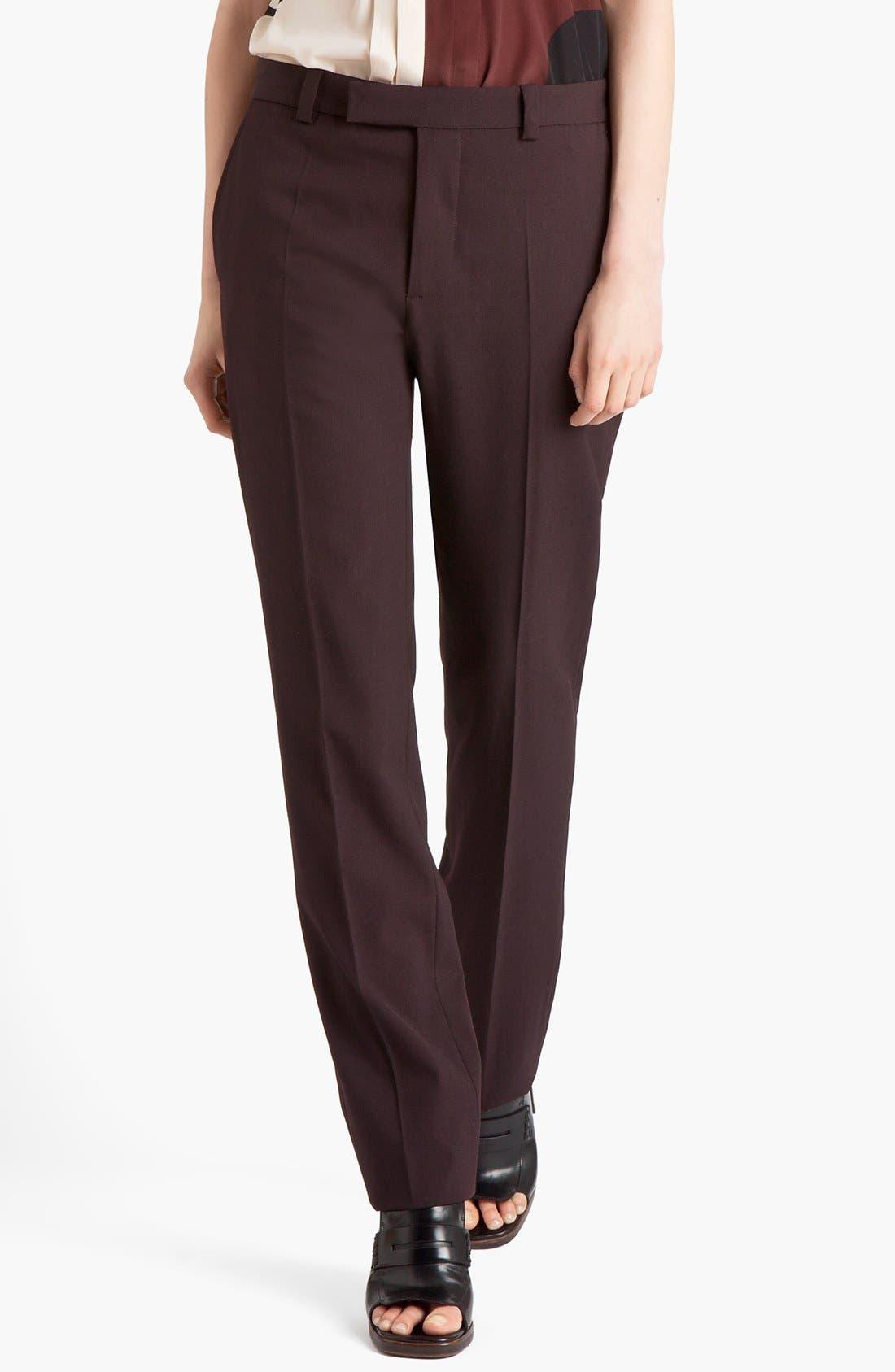 Main Image - Marni Narrow Leg Stretch Wool Pants
