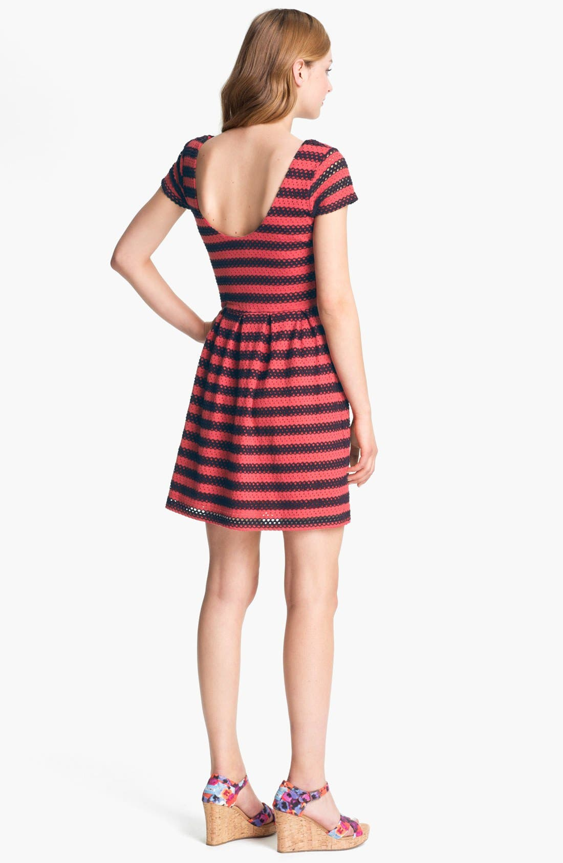 Alternate Image 2  - Eight Sixty Eyelet Stripe Dress (Online Only)