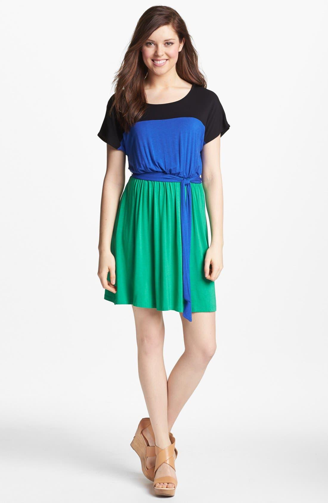 Alternate Image 1 Selected - kensie Colorblock Knit Dress