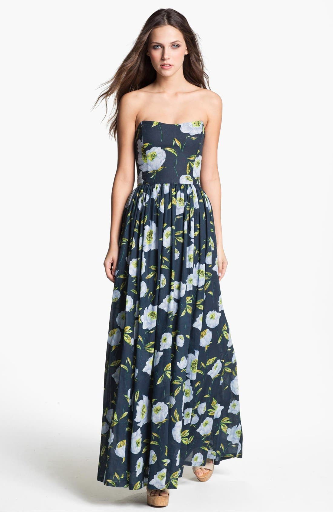Alternate Image 1 Selected - French Connection 'Spring Bloom' Cotton Maxi Dress