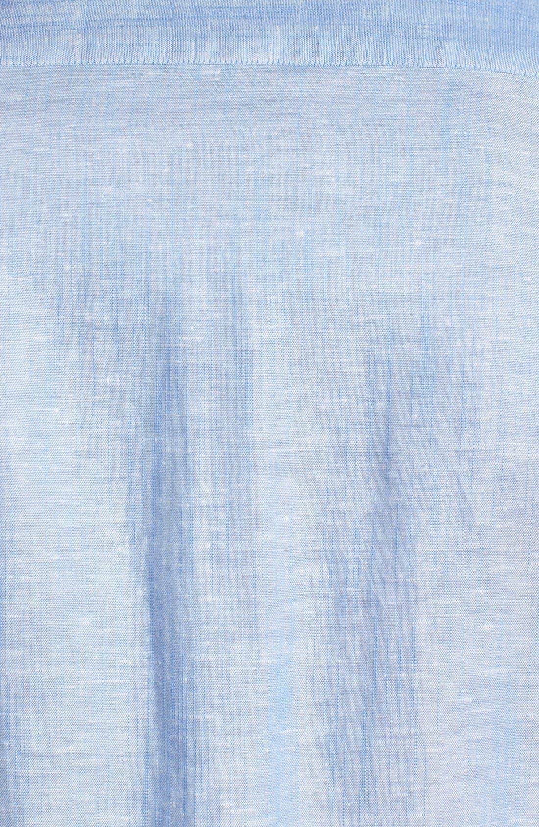 Alternate Image 3  - Ted Baker London Linen Blend Sport Shirt