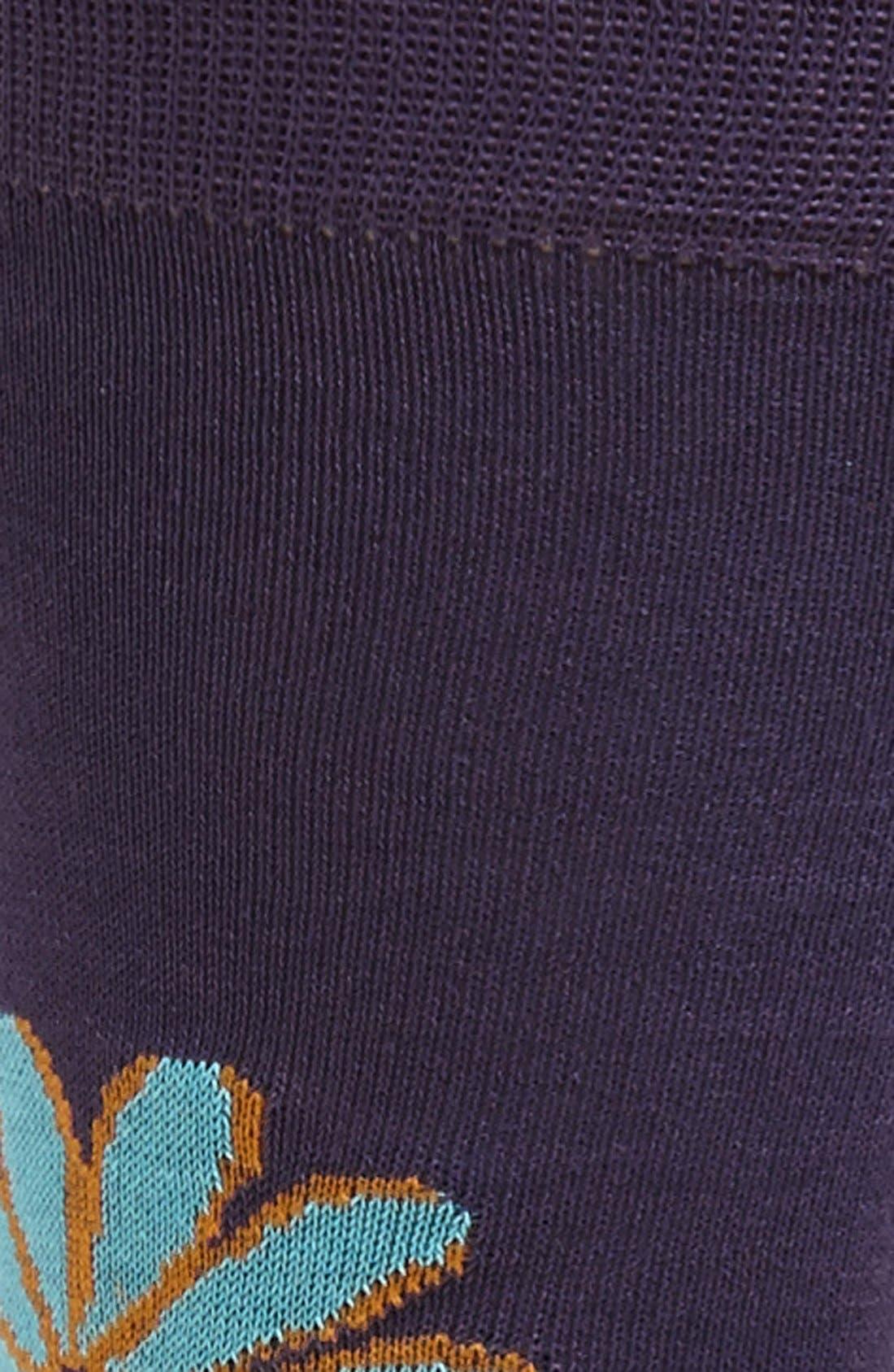 Alternate Image 2  - Lorenzo Uomo Floral Socks