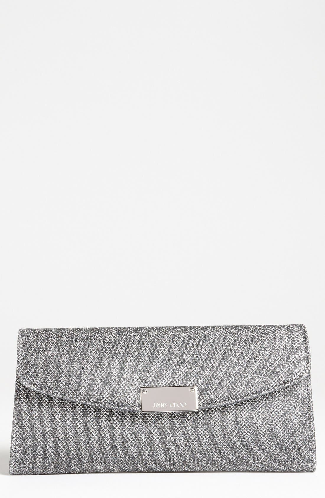 Alternate Image 1 Selected - Jimmy Choo 'Riane' Glitter Lamé Clutch