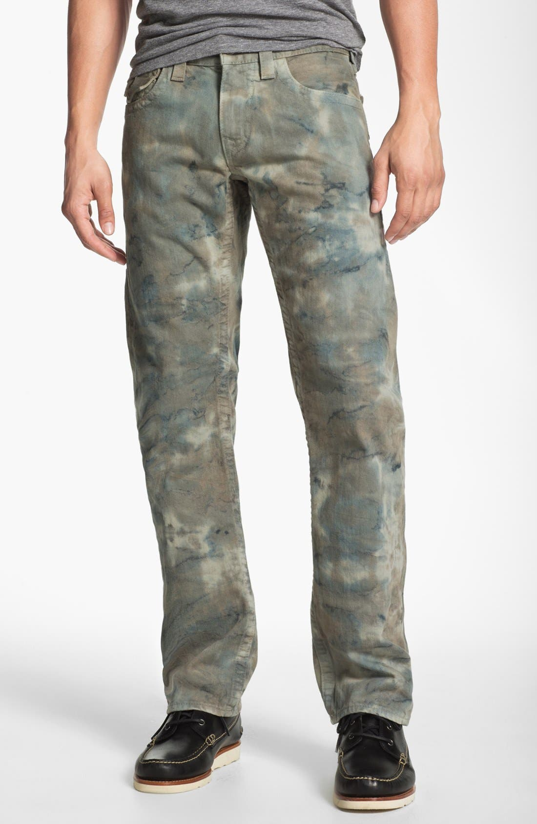 Alternate Image 2  - True Religion Brand Jeans 'Ricky' Straight Leg Jeans (Olive)