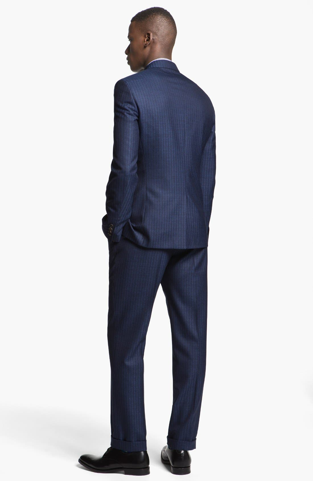 Alternate Image 3  - Paul Smith London Slim Fit Stripe Wool Suit