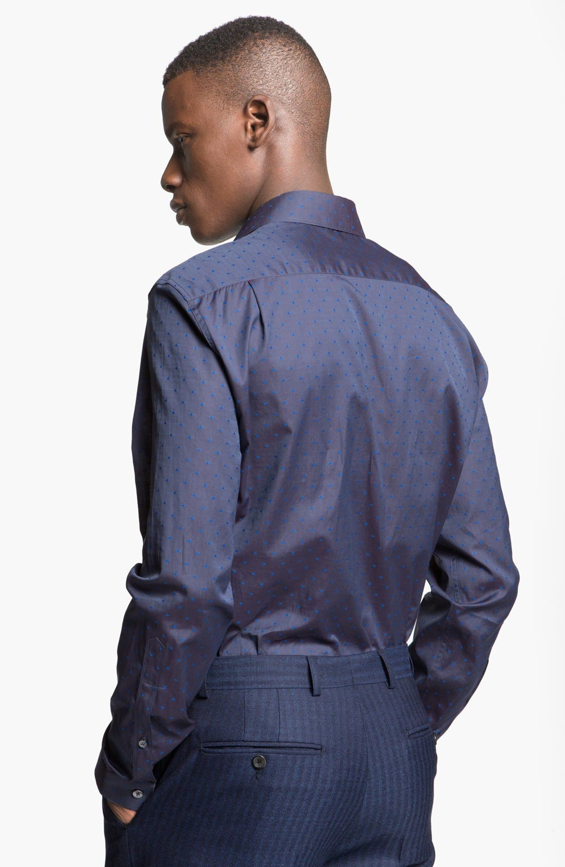 Alternate Image 2  - Paul Smith London Slim Fit Dot Print Dress Shirt